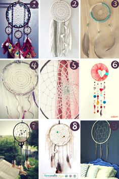 DIY Dreamcatchers are so much fun! 9 Free dreamcatchers to make today! #DIY
