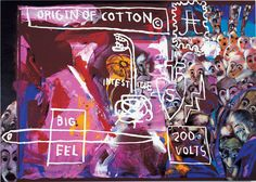Francesco Clemente, Jean-Michel Basquiat, and Andy Warhol-Origin of Cotton-1984