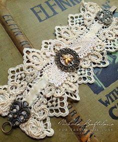 Lace wrist cuff for Tresors de Luxe - Nichola Battilana: