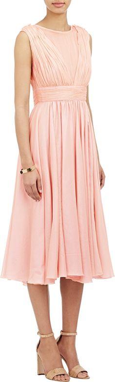 AMELIA TORO Pleated Voile Dress
