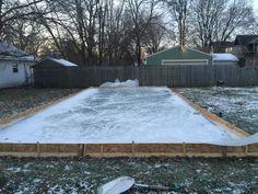 Merveilleux DIY Backyard Ice Rink