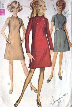1960s Misses A Line Dress