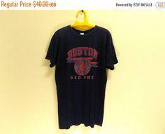 CHRISTMAS 25% Vintage 70s 80s Boston Red Sox Champion Brand MLB Fenway Park T Shirt