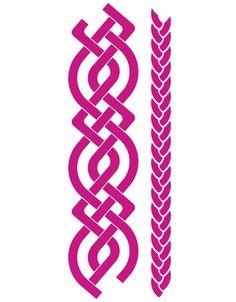 Celtic knot border for invites ornaments pinterest celtic celtic border and plait template yadclub Images