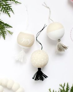 """The Holiday Collective on Instagram: """"I love diying my own ornaments every year- these ones are going on my to do list! Wooden tassel ornaments from @themerrythought on The Holiday Collective today!"""""""