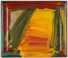Howard Hodgkin - Howard Hodgkin was born in London in 1932 and attended Camberwell School of Art and the Bath Academy of Art, Corsham. In he represented Britain at t. Abstract Expressionism, Abstract Art, Abstract Paintings, Howard Hodgkin, Museum Of Modern Art, Art Blog, Painting Inspiration, Art Boards, Painting & Drawing