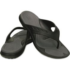 ... Slip On Loafer Shoes. Crocs Mens Modi Sport Flip Black And Graphite Get  one of the softest footbeds in a