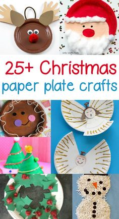 Paper Plate Christmas Crafts Paper Plate Christmas Craft - Fun and easy craft projects for preschool or kindergarten and beyond to help celebrate the Christmas spirit.
