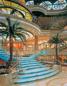 The gorgeous atrium on the Sea Princess - our first cruise to Alaska. Out of this world!! #PrincessCruises #travel