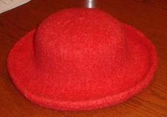 Felted Hat working from crown-to-brim instead of brim-to-crown