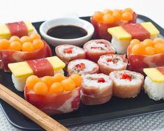 Cet article est également disponible en : AnglaisC'est le deuxième round du Défi des Gourmets Aoste! Pour cette seconde épreuve, Grégory nous a demandé de plancher sur le thème «Accord d'été sucré-salé», et nous sommes donc toujours 10 blogueurs à proposer notre recette d'apéritif mêlant charcuterie d'Aoste et notes fruitées et sucrées! Pour cette épreuve,...Read More » Sweet Sushi, Sushi Love, Love Eat, Love Food, No Salt Recipes, Cooking Recipes, Izakaya Recipe, Fruit Sushi, Snacks Dishes