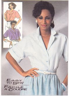 1980s Vintage Womens Sewing Pattern Blouses by Sutlerssundries, $4.99