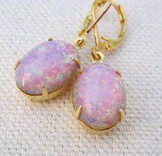 Opal Earrings by pinking edge designs- $21 on Etsy.