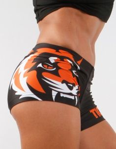 "Fitness Hotpants - ""Signature"" - Black & Orange"