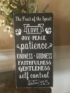 """Fruit Of The Spirit Wall Art inspirational stencil **fruit of the spirit** 12""""x24"""" for painting"""