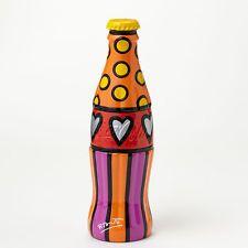 Romero Britto Coke Coca- Cola Bottle YELLOW Cap Figurine New with tag