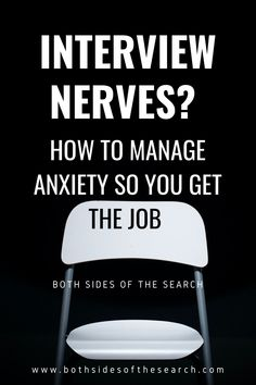 Tools for understanding and managing interview anxiety so you make a good impression and get an offer! #jobsearch #jobinterview #interviewing #nerves #anxiety