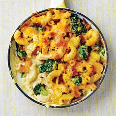 Chicken-Broccoli Mac and Cheese with Bacon | MyRecipes.com  Not super healthy but I love mac and cheese
