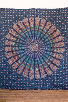 Blue Mandala Throw