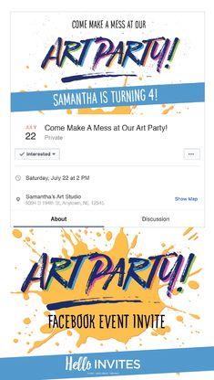 Camping Pink Birthday Facebook Event Invitation Green Girl Birthday