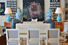 Horse head #statues and abstract #art at #Dallas #Mecox #interiordesign #MecoxGardens #furniture #shopping #home #decor #design #room #designidea #vintage #antiques #garden