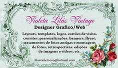 Violeta lilás Vintage: Violeta Lilás Vintage Designer Gráfico/Web