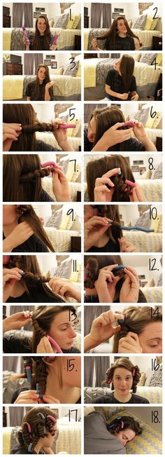 Tutorial: Perfect NO Heat Curls... super easy, sleep on hair over night, wave up with perfect curls!