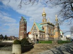 Russian Orthodox Church of St. Mary Magdelene, Darmstadt... currently here to visit my mom!