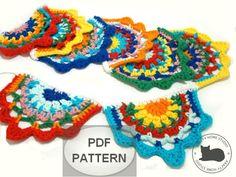 Crochet garland pattern Tutorial pattern Gypsy by PatternsDG Gypsy Crochet, Crochet Cord, Freeform Crochet, Crochet Hooks, Crochet Christmas Garland, Crochet Garland, Diy Garland, Crochet Bunting Pattern, Crochet Motif Patterns