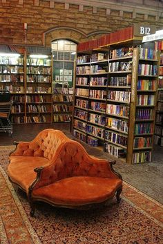 My ideal home library.Barter Books, secondhand bookshop in Alnwick Station, Northumberland, England Beautiful Library, Dream Library, Cozy Library, Future Library, Reading Library, Library Chair, Bohemian House, Home Libraries, Book Nooks