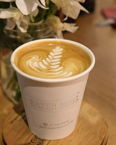 A takeaway latte from Baker Bros. Espresso at Shop 1, 56-58 York Street