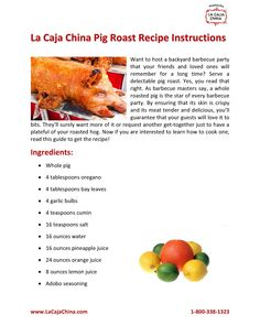 As barbecue lovers say, the pig roast is the star of every backyard party. Make your next get-together as memorable as ever by serving the most delectable and the juiciest roasted hog! Read our PDF guide that features valuable La Caja China pig roast recipe instructions!
