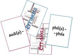 Etymots : jouons avec les mots composés à partir du latin et/ou du grec   Jeu à acheter sur Arrête ton char