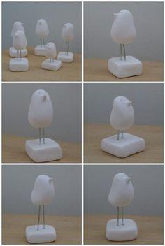 clay birds by jurgadecor