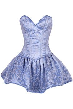 Princess Inspired Outfits, Disney Princess Fashion, Types Of Dresses, Blue Dresses, Casual Dresses, Kpop Fashion Outfits, Fashion Dresses, Blue Corset, Angel Outfit