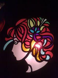 Lady  cellophane art