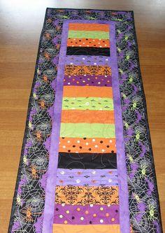 Halloween Quilted Table Runner Halloween Table Runner Quilt