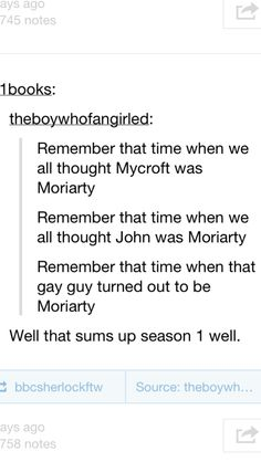 Yeah... That's season one in its simplest form. Haha just kidding, this is Sherlock, there is no simplest form.