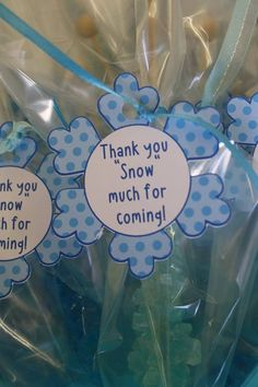 Frozen party favor tags - one dozen on Etsy, $10.00
