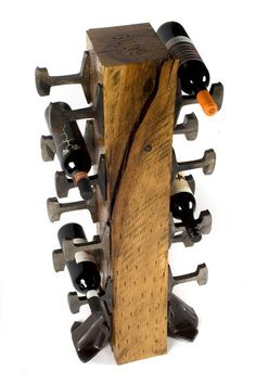 Railway Ties and Rails Repurposed and Recycled Into Wine Racks