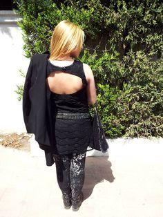 Pull & Bear Dress, H Leggings, Stella Mc Cartney Bag Falabella