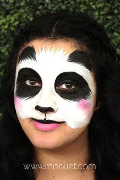 Animal Face Painting For Kids Photos - Panda Face Painting, Bear Face Paint, Bunny Face Paint, Dinosaur Face Painting, Tiger Face Paints, Girl Face Painting, Painting For Kids, Kids Face Paints, Panda Makeup