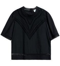READY TO WEAR Black broidey blouse BLACK