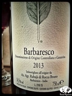 2013 Bruno Rocca Barbaresco wine vino Piedmont back label social Vignerons