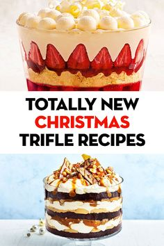 Ultimate trifle recipes for your Christmas feast - Christmas food - Dessert Christmas Trifle, Christmas Lunch, Christmas Cooking, Christmas Desserts, Family Christmas, Christmas Recipes, Simple Christmas, Family Family, Christmas Cakes