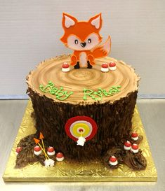 The Cutest Woodland Creature Themed Birthday Cake European Bakery Style