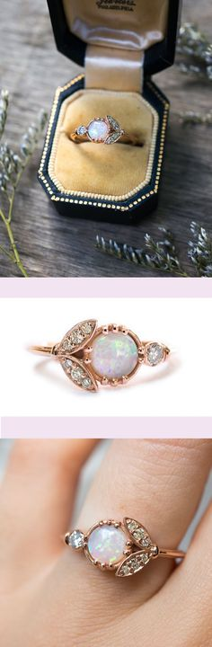A unique opal engagement ring by S.Kind & Co.