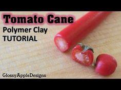 Miniature Polymer Clay Tomato Cane Tutorial - YouTube