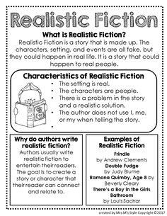 Realistic Fiction Genre Anchor Chart