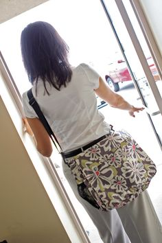 Amy Michelle Seattle in Charcoal Floral  Work/School/Travel/Diaper bag...I have this bag and I LOVE it!!!!!